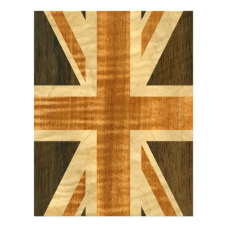 Wooden Union Jack UK Flag Flyer