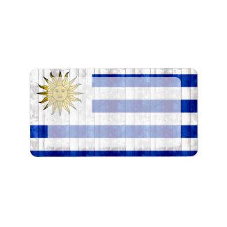 Wooden Uruguayan Flag Label