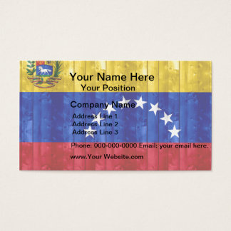 Wooden Venezuelan Flag Business Card