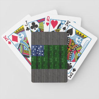 Wooden Vermont Flag Bicycle Playing Cards