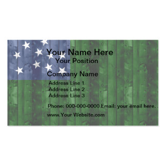 Wooden Vermont Flag Business Card