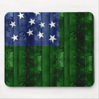 Wooden Vermont Flag Mouse Pad