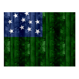 Wooden Vermont Flag Postcard