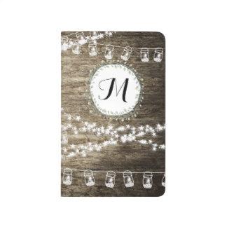 Wooden Vintage  Bullet Journal with Monogram