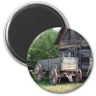Wooden Wagon Magnet