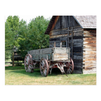 Wooden Wagon Postcard