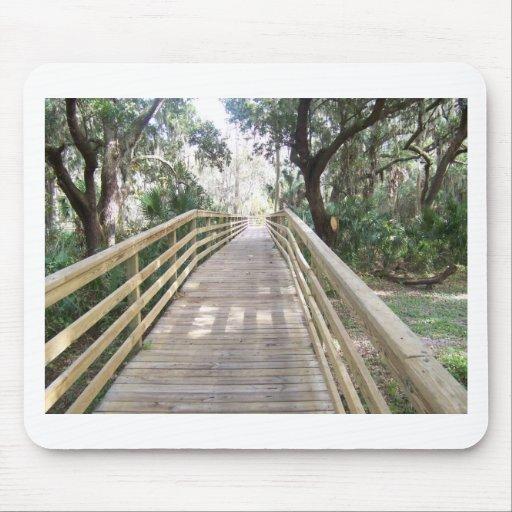 Wooden Walkway Mousepad