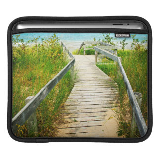 Wooden walkway over dunes at beach sleeve for iPads