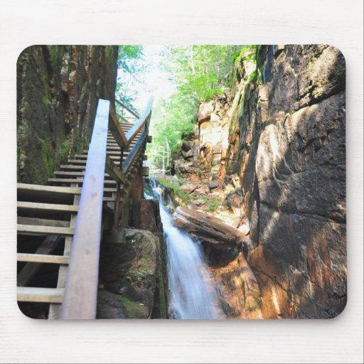 Wooden Walkway Waterfall Flume Gorge NH Mousepad
