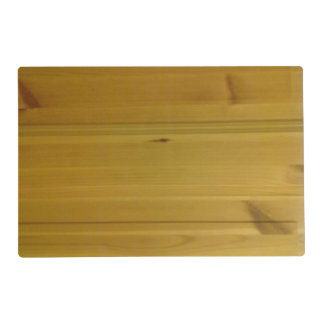 Wooden wall laminated place mat