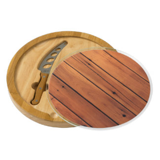 Wooden wall round cheese board