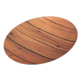 Wooden wall dinner plates