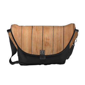 Wooden wall texture courier bag