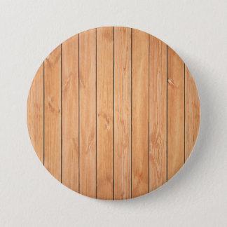 Wooden wall texture pinback button