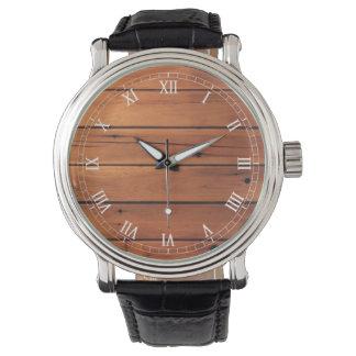 Wooden wall wristwatch