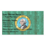 Wooden Washingtonian Flag Business Cards