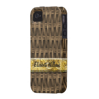 Wooden Weave 2 Case-Mate Case iPhone 4 Covers