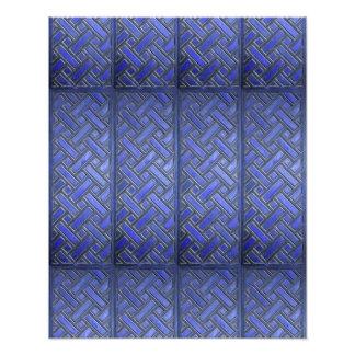 Wooden Weave Pattern Blue Photo Art