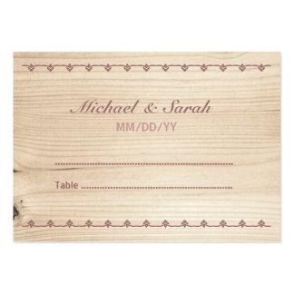 Wooden Wedding Escort Card Business Card Templates
