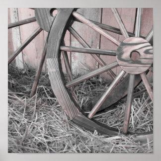 Wooden Wheels Poster