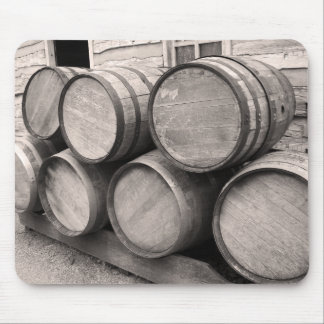 Wooden Whiskey Barrels Mouse Pad