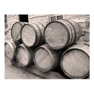 Wooden Whiskey Barrels Post Cards