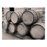 Wooden Whiskey Barrels Poster