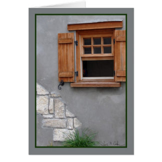 Wooden window greeting card