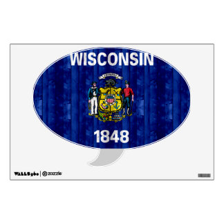 Wooden Wisconsinite Flag Wall Decal