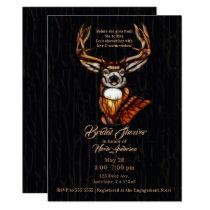 Wooden Wood Deer Rustic Country Bridal Shower Card