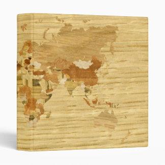 Wooden World Map 2 3 Ring Binder