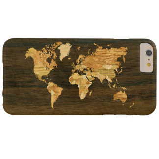 Wooden World Map Barely There iPhone 6 Plus Case