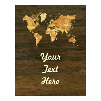 Wooden World Map Flyer