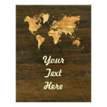 Wooden World Map Flyers