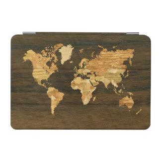 Wooden World Map iPad Mini Cover