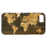 Wooden World Map iPhone 5 Cover