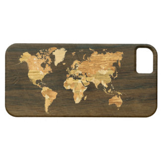 Wooden World Map iPhone SE/5/5s Case