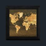 """Wooden World Map Jewelry Box<br><div class=""""desc""""></div>"""