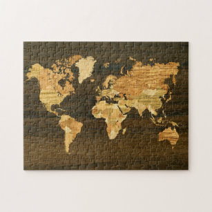 World map jigsaw puzzles zazzle wooden world map jigsaw puzzle gumiabroncs Choice Image