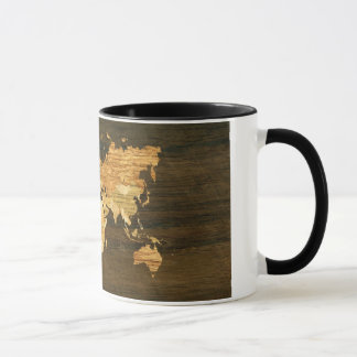 Wooden World Map Mug
