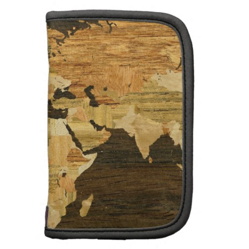 Wooden World Map Planners