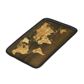Wooden World Map Sleeve For MacBook Air