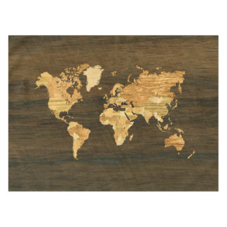 Map tablecloths zazzle wooden world map tablecloth gumiabroncs Gallery