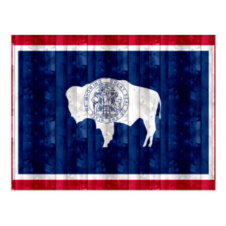 Wooden Wyomingite Flag Postcard