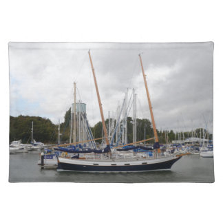 Wooden Yacht Barn Owl Cloth Placemat