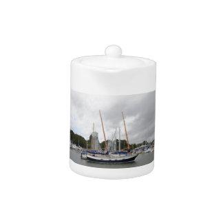 Wooden Yacht Barn Owl Teapot