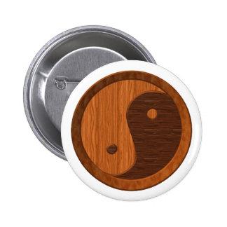 Wooden Yin Yang Button