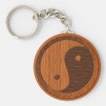 Wooden Yin Yang Key Chain
