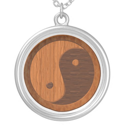 Wooden Yin Yang Necklace