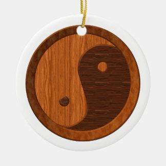 Wooden Yin Yang Ornament